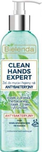 Bielenda Clean Hands Expert żel do mycia rąk antybakteryjny z pompką 200g