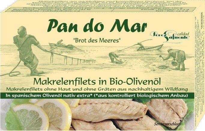 Makrela w bio oliwie z oliwek 120 g - pan do mar