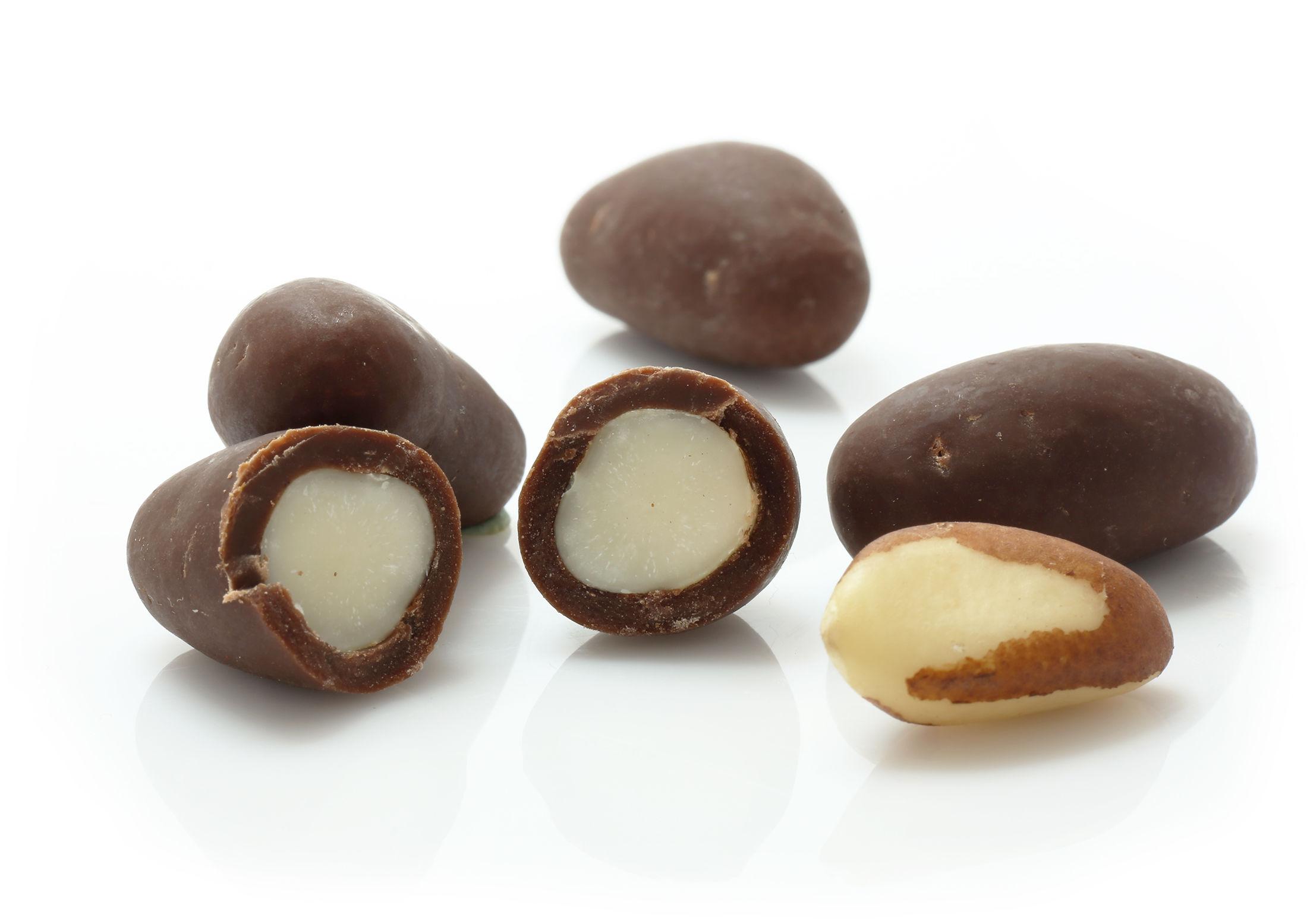 Orzechy Brazylijskie w czekoladzie vegemilk RAW (na wagę) - BIO