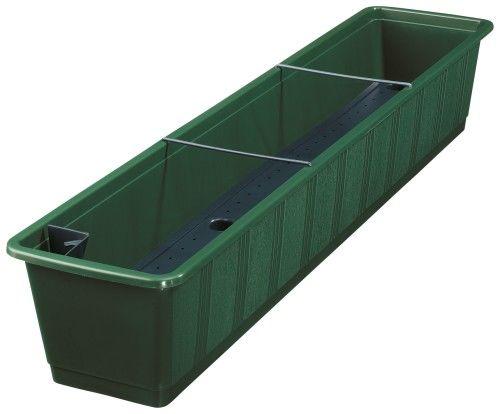 Doniczka samonawadniająca Ciemny Zielony 100x21x18cm Aqua Green, Geli