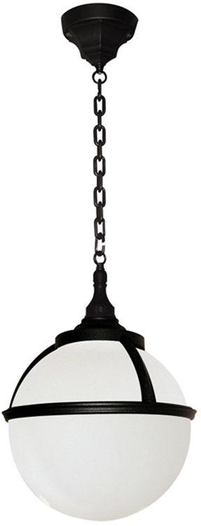 Lampa wisząca zewnętrzna Glenbeigh CHAIN Elstead Lighting czarno-biała oprawa w nowoczesnym stylu