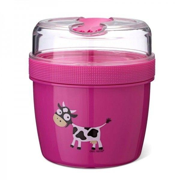 Carl Oscar - N''ice Cup l Pojemnik Śniadaniowy z Wkładem Chłodzący Purple - Cow