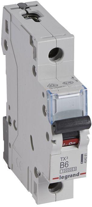 Wyłącznik nadprądowy 1P B 6A 10kA AC S311 TX3 404081