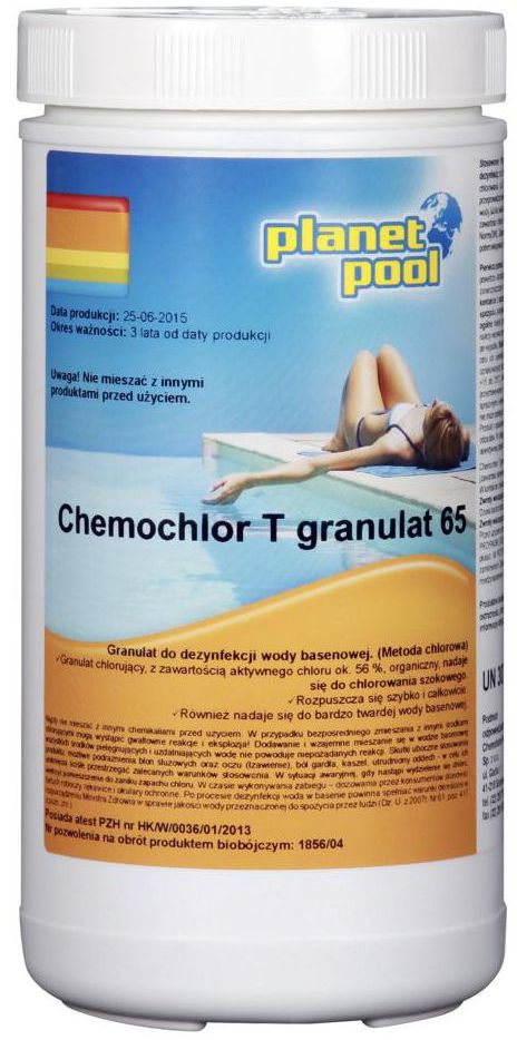 Granulat do basenu 1 kg PLANET POOL CHEMOCHLOR T