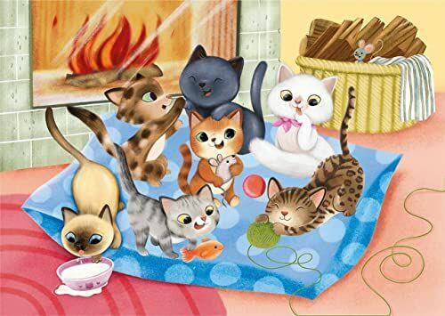 Clementoni 24784 ''Play for Future-Puppies'' - 2 x 20 sztuk - puzzle dzieci w wieku 3-100% materiały z recyklingu - wyprodukowano we Włoszech, puzzle z kreskówek, wielokolorowe