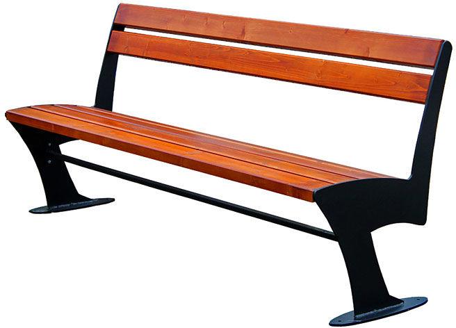 Stalowa ławka parkowa Zoio 2X 150 cm - 84 kolory