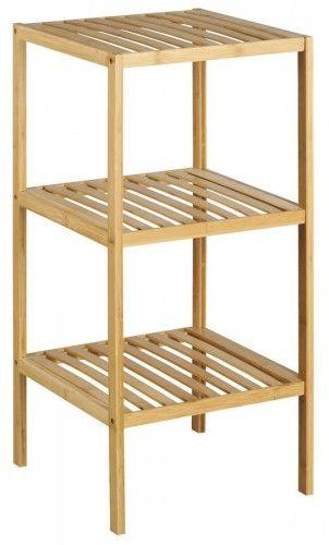 Regał 37x37x80cm 3 półki, bambus
