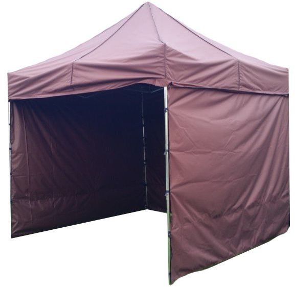 Namiot ogrodowy PROFI STEEL 3 x 3 - brązowy