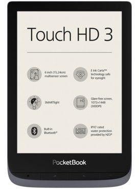 PocketBook Touch HD 3 (632) Szary + 60 dni Legimi + 700 ebooków GRATIS! - Wysyłka 24H lub odbiór osobisty we Wrocławiu!