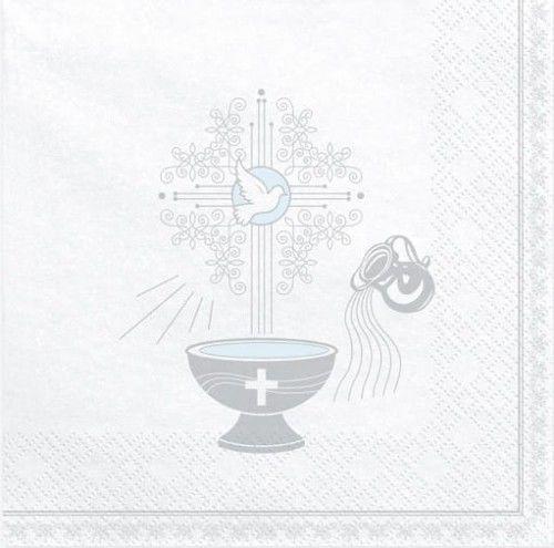 Serwetki na Chrzest Święty, srebrne