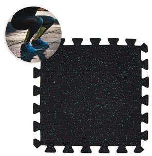 Mata ochronna puzzle składana pod sprzęt, do sal fitness 64x64x1 cm Puzeko Insportline