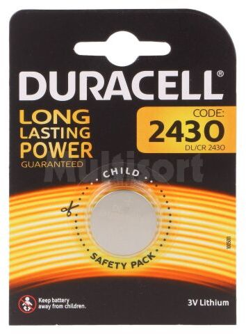 Bateria litowa 3V CR2430 DURACELL pastylkowa 1szt. fi24x3mm