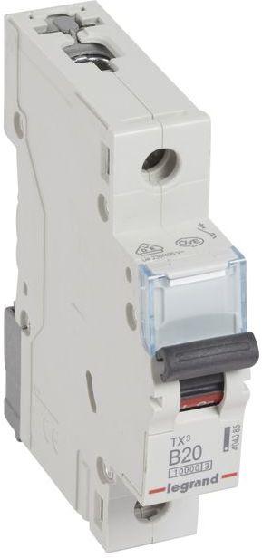 Wyłącznik nadprądowy 1P B 20A 10kA AC S311 TX3 404085