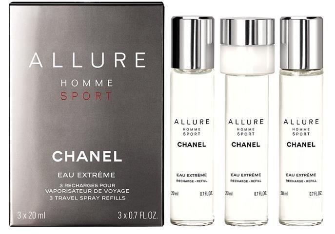 Chanel Allure Homme Sport Eau Extreme woda perfumowana uzupełnienie dla mężczyzn 3 x 20 ml