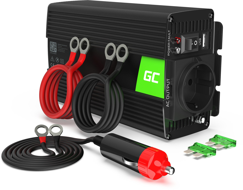 Przetwornica napięcia Inwerter Green Cell  12V na 230V 500W/1000W Czysta sinusoida