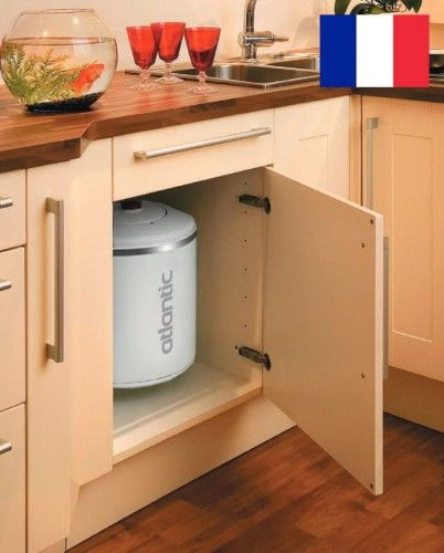 Elektryczny ogrzewacz wody 15L, małej pojemności do montażu nad umywalką z grzałką, 1600W
