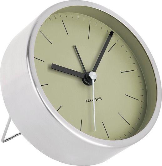 Budzik minimal srebrny zielony