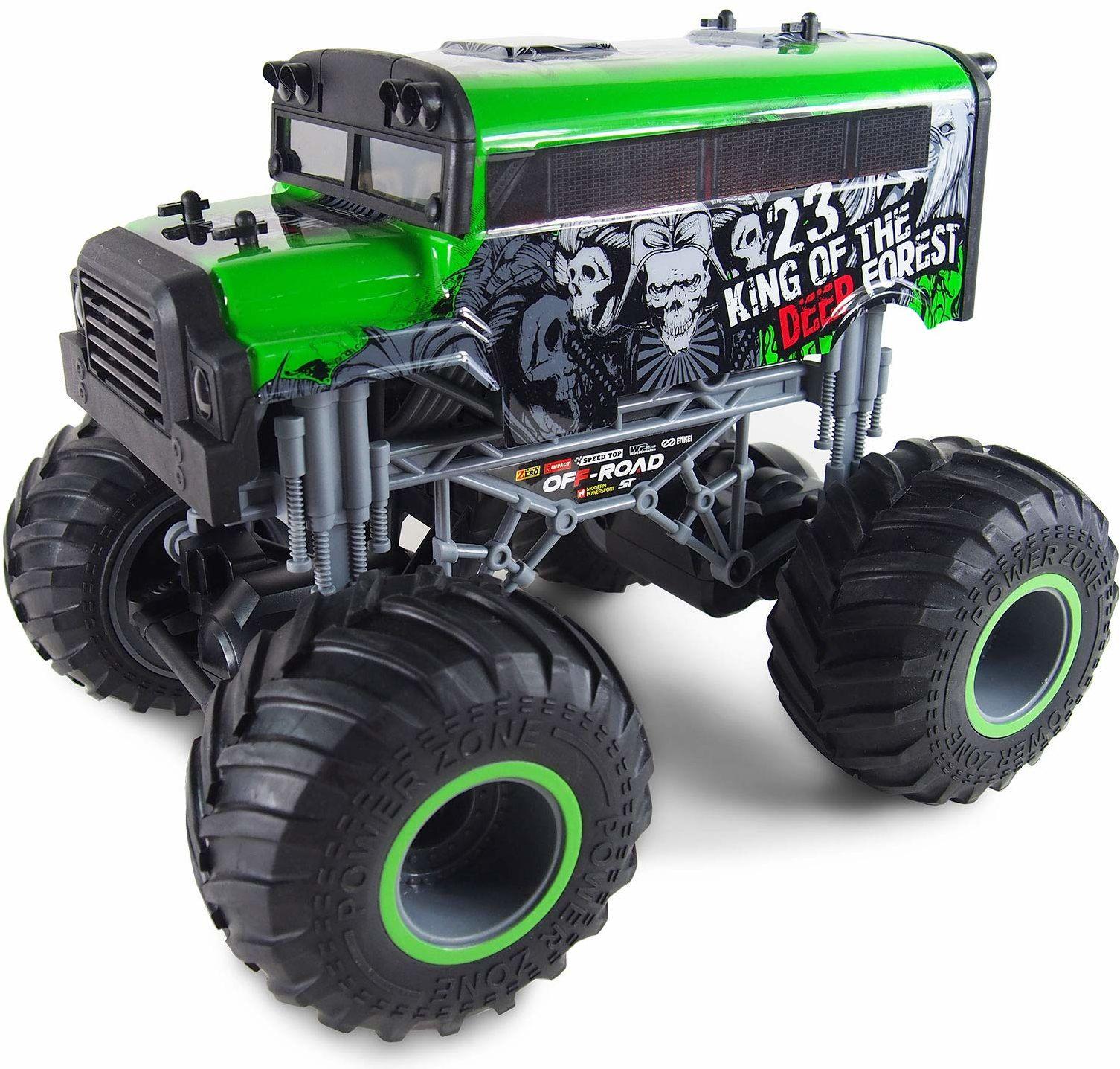 Amewi 22453 zielony Crazy SchoolBus Monster Truck 1:16 RTR