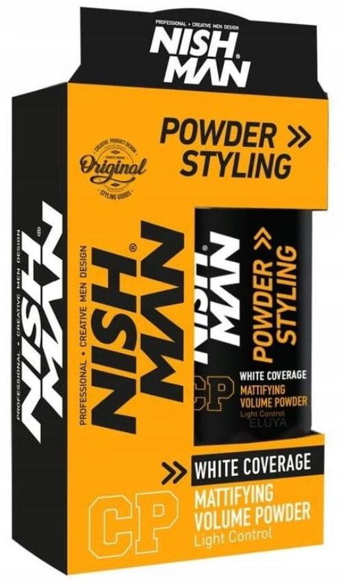 Nishman White Coverage puder przyciemniający siwe włosy 20g