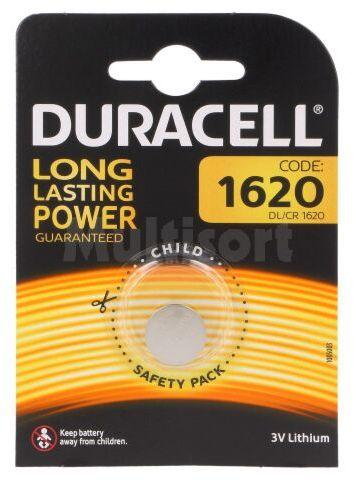 Bateria litowa 3V CR1620 DURACELL pastylkowa 1szt. fi16x2mm
