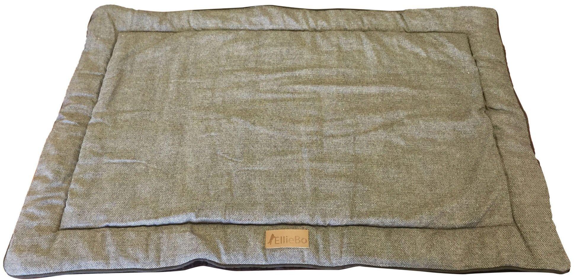 Ellie-Bo dwustronne tweedowe i brązowe sztuczne futro mata łóżko dla XXL 100 cm klatki i skrzynek dla psa szczeniaka