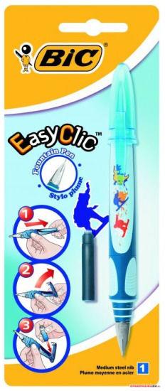 Pióro wieczne BIC Easy Clic Decor dla chłopców niebieski Blister 1szt, 8794095