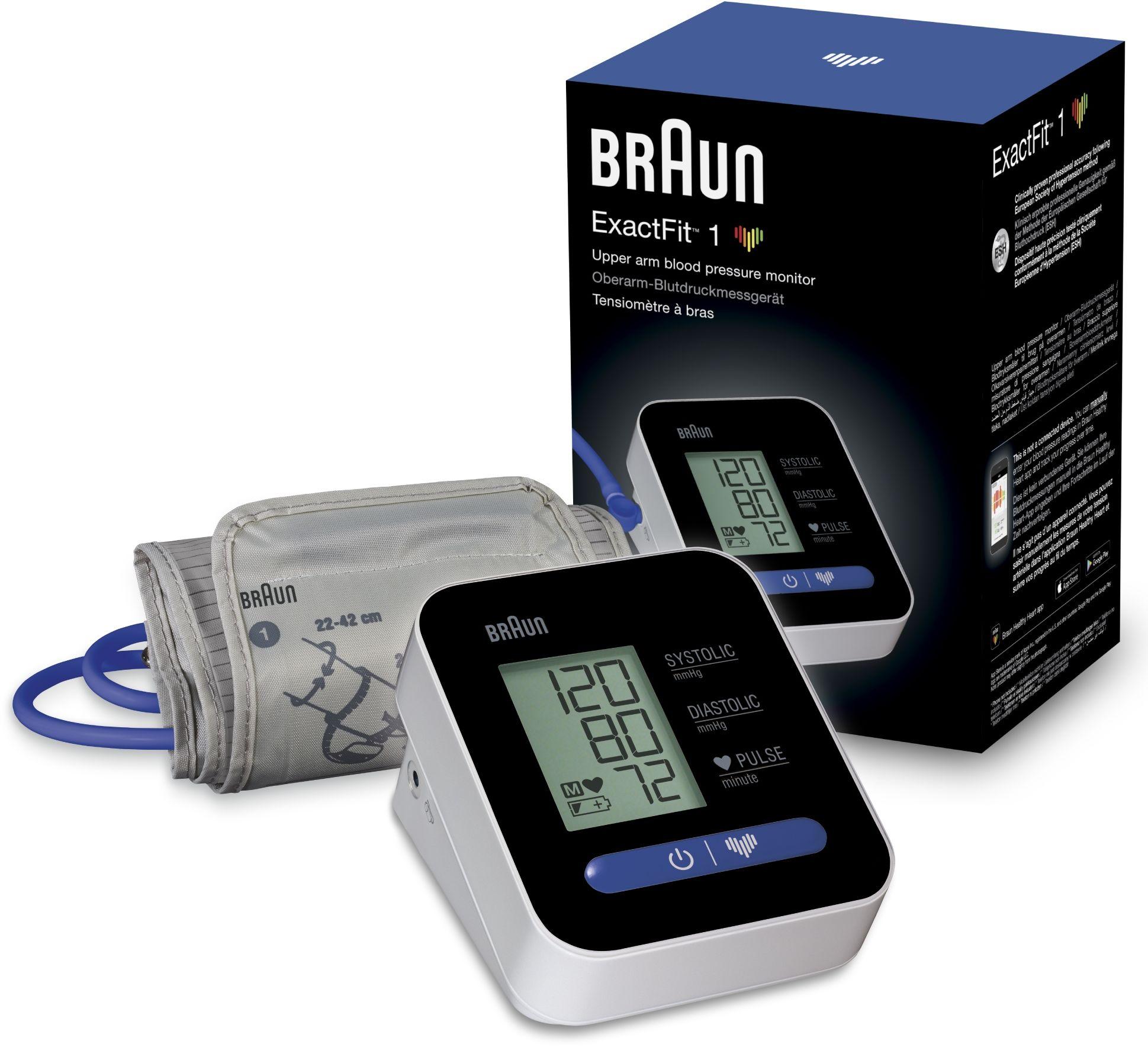Braun ExactFit 1 BUA 5000 Łatwy w obsłudze, precyzyjny ciśnieniomierz
