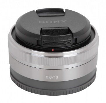 Sony E 16mm F2.8 (SEL16F28 ) Srebrny