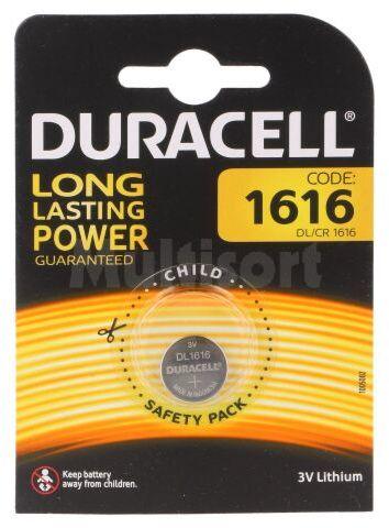 Bateria litowa 3V CR1616 DURACELL pastylkowa 1szt. fi16x1,6mm