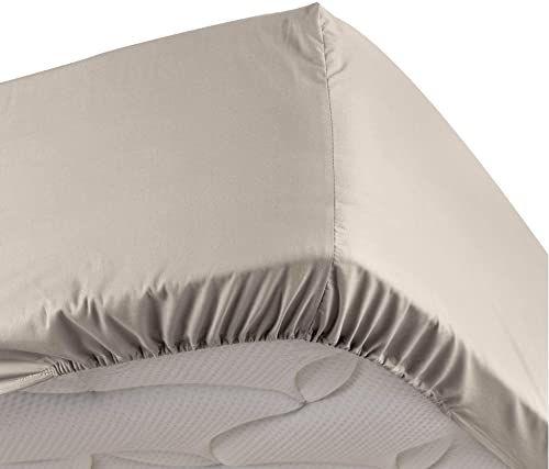 Douceur d''Intérieur Percaline prześcieradło z gumką na łóżko pojedyncze, len, 90 x 190 cm