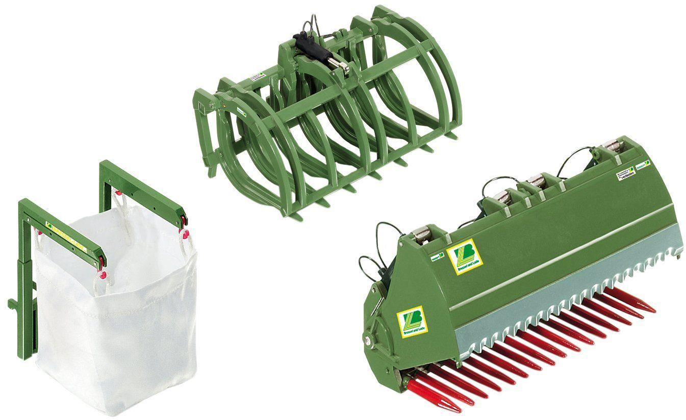 Wiking 7384 - Załadunek od przodu, zestaw narzędzi B deska i ładowanie, zielony