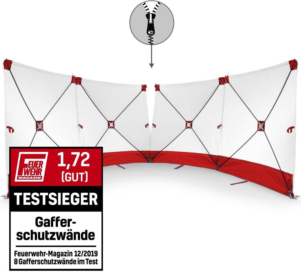 Parawan zasłaniający VarioScreen 4*180*180 dzielony pośrodku czerwony