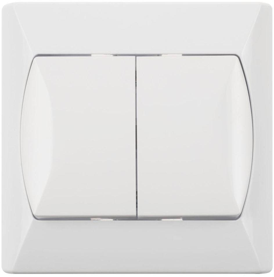 Włącznik schodowy PODWÓJNY AKCENT Biały OSPEL