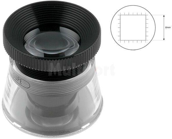 Lupa stołowa o powiększeniu x22; skala 0,1mm; soczewka: fi 32mm