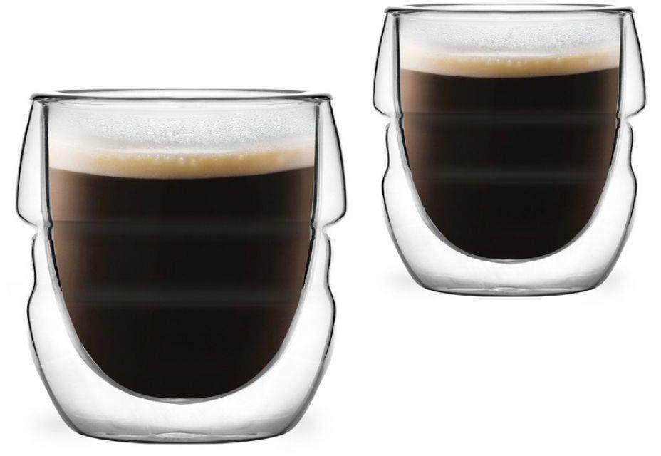 2 szklanki do espresso z podwójną ścianką 70ml Sferico