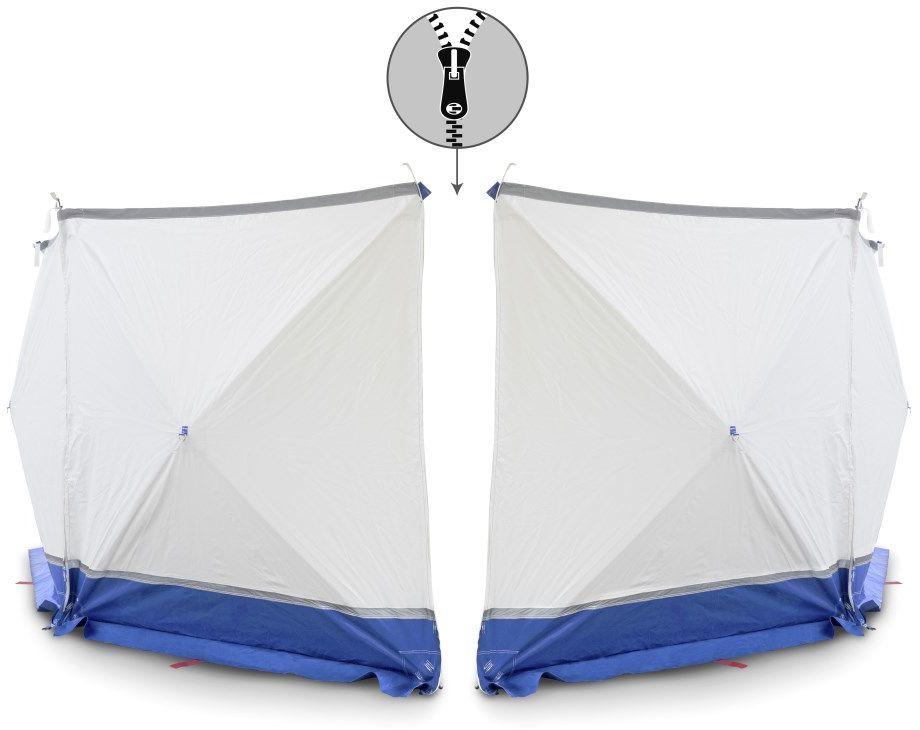 Parawan zasłaniający VarioScreen 4*180*180 dzielony pośrodku niebieski