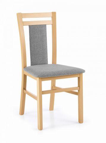 Krzesło HUBERT 8 dąb miodowy drewniane tapicerowane siedzisko  KUP TERAZ - OTRZYMAJ RABAT