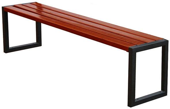 Ławka miejska drewniana Vintuna 180 cm bez oparcia - 84 kolory