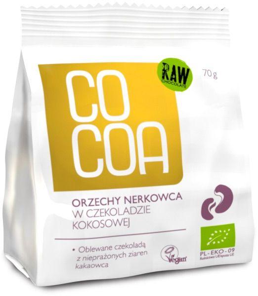 Orzechy nerkowca w czekoladzie kokosowej 70g - BIO