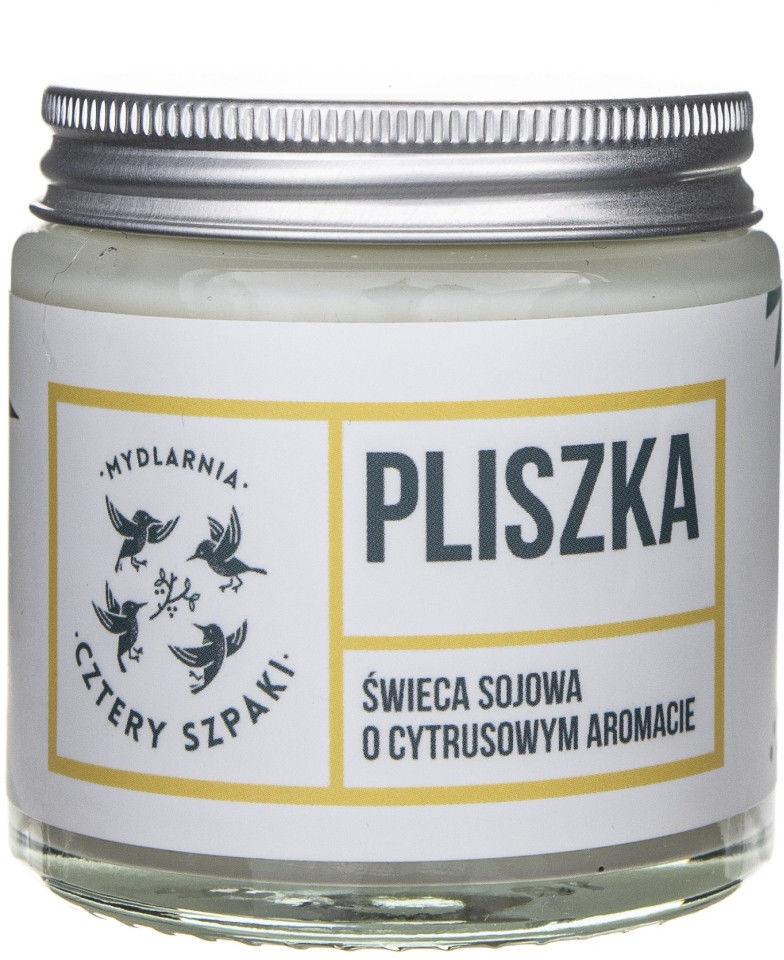 Mydlarnia Cztery Szpaki Pliszka sojowa świeca zapachowa, cytrusowa 1 sztuka