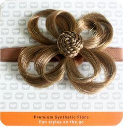 Love Hair Extensions Kwiat na elastycznej opasce kolor 10 - średni popielaty brąz, 1 opakowanie (1 x 1 sztuka)