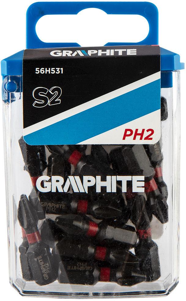 Bity udarowe PH2 x 25 mm, 20 szt.