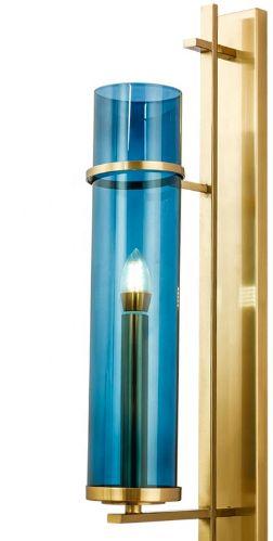 Eterion Brass & Blue Wall - kinkiet