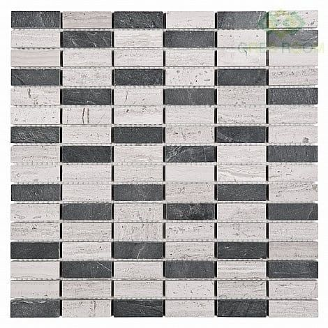 Mozaika Dunin Woodstone Grey Block Mix 48