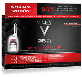 VICHY DERCOS AMINEXIL CLINICAL 5 Formuła dla mężczyzn 21 ampułek