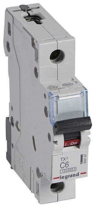 Wyłącznik nadprądowy 1P C 6A 10kA AC S311 TX3 404167