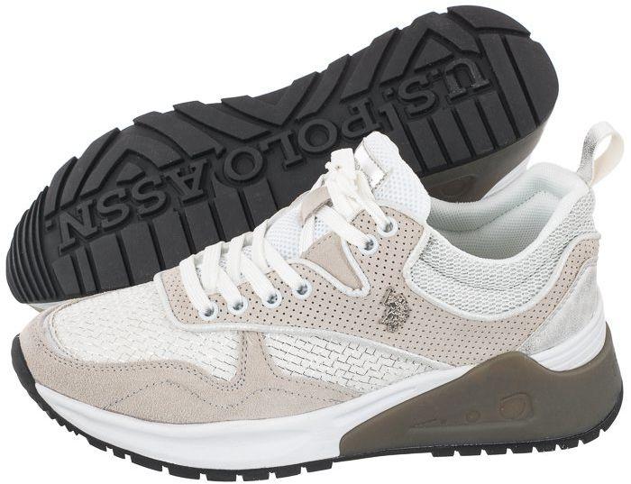 Sneakersy U.S. Polo Assn. Bonye025 Whi-Sil BONYE4025S1/ST1 (US92-b)