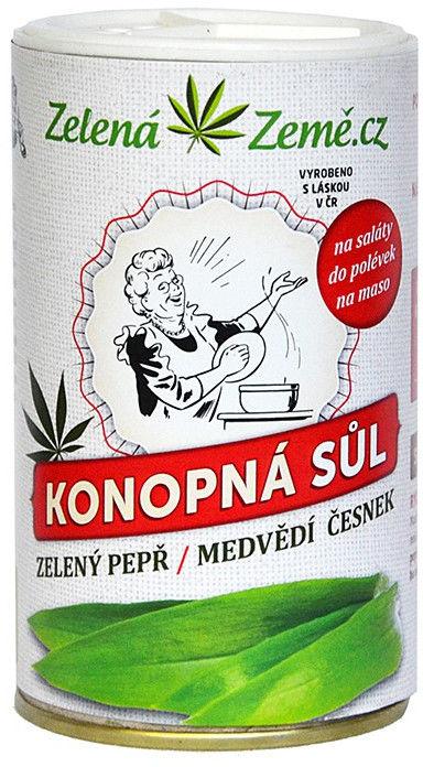 Sól konopna z pieprzem i niedźwiedziem czosnkiem 165g, Zelená Země