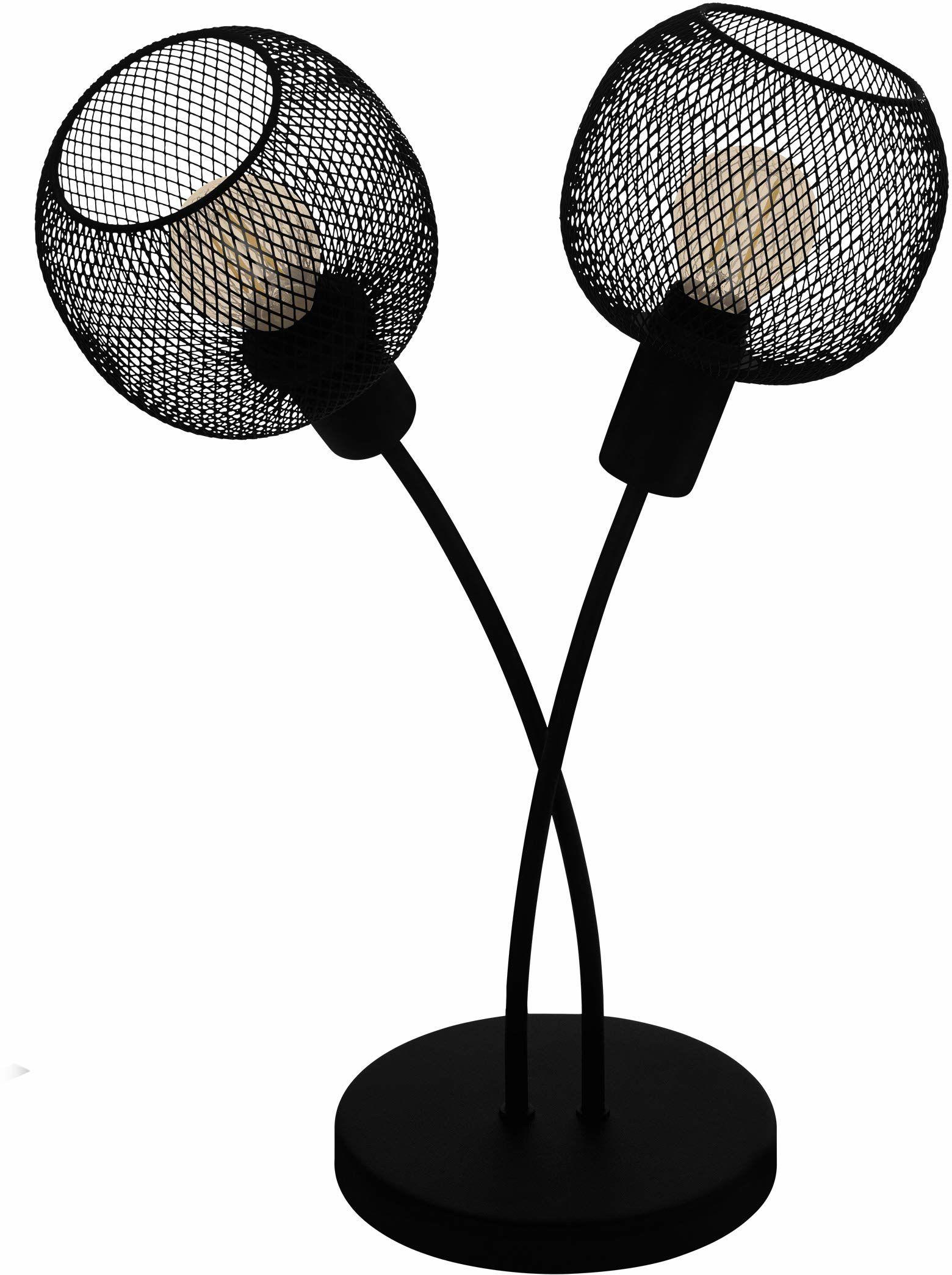 EGLO Lampa stołowa Wrington 1, 1-punktowa lampa stołowa w stylu vintage, industrialny, retro, lampa nocna ze stali, lampa do salonu w kolorze czarnym, lampa z przełącznikiem, oprawka E14
