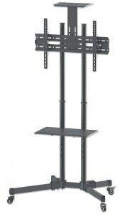 Manhattan Stojak mobilny do TV LCD/LED/PDP 37-70cali, 50kg VESA pochylany 2 półki